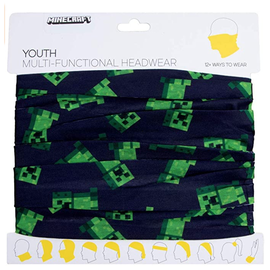 Bioworld Headband - Minecraft - Creeper Fabric Neck Gaiter Multi-Fonctional 12 Ways to Wear