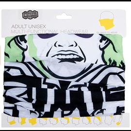 Bioworld Headband - Beetlejuice - Fabric Neck Gaiter Multi-Fonctional 12 Ways to Wear