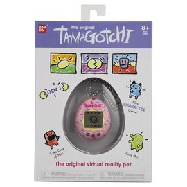 Bandai Tamagotchi - Original - Motif de Beigne Rose Animal Virtuel Gen 1