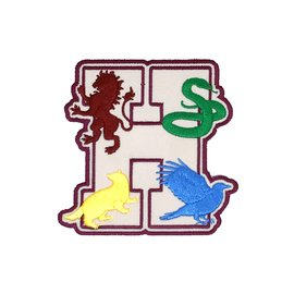Bioworld Patch - Harry Potter - Poudlard avec Animaux Emblèmes des Quatres Maisons