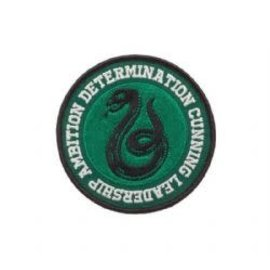 Bioworld Patch - Harry Potter - Slytherin Snake Determination, Cunning, Leadership, Ambition