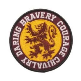 Bioworld Patch - Harry Potter - Gryffindor Logo Bravery, Courage, Chivalry, Daring