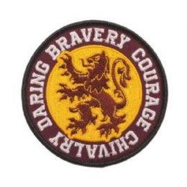 Bioworld Patch - Harry Potter - Lion de Gryffondor Bravoure, Courage, Audacieux et Chevalerie