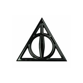 Bioworld Lapel Pin - Harry Potter -  The Deathly Hallows Black