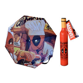 Bioworld Parapluie - Marvel - Deadpool: Bouteille de Sauce Chimichanga