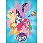 Ata-Boy Aimant - My Little Pony - Applejack, Rarity, Fluttershy, Twilight Sparkle, Rainbow Dash, Pinkie Pie et Spike sur Fond Bleu