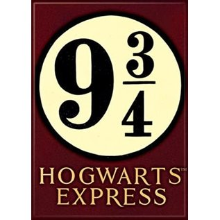 Ata-Boy Aimant - Harry Potter - Plateforme 9 3/4 Hogwarts Express sur Fond Marron