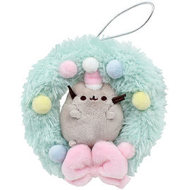 Gund Holiday Decoration - Pusheen - Plush Christmas Wreath 4.5""