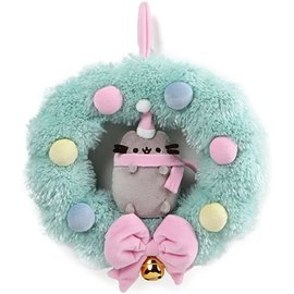 Gund Holiday Decoration - Pusheen - Plush Christmas Wreath 10""