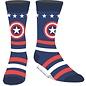 Bioworld Chaussettes - Marvel - Captain America: Logo et Étoiles Bleues et Rouges 1 Paire Crew