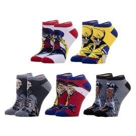 Bioworld Socks - Marvel - The X-Men: Pack of 5 Pairs Ankle