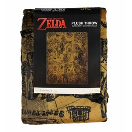 Bioworld Blanket - The Legend of Zelda - Hyrule Map Plush Throw