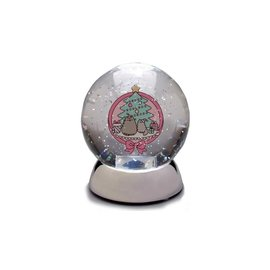 Enesco Holiday Decoration - Pusheen - Illuminated Snow Globe 5''