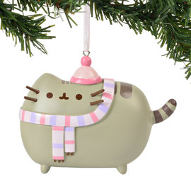 Enesco Holiday Decoration - Pusheen - Scarf Vinyl Tree Ornament 3''