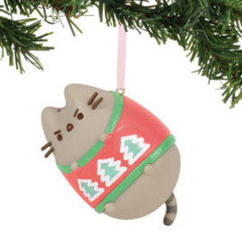 Enesco Holiday Decoration - Pusheen - Ugly Sweater Vinyl Tree Ornament 3''