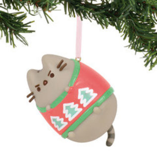 Stocking Stuffers Funny Christmas Present Gift For Kids Christmas Pusheen Necklace Cat In Ugly Sweater Jewelry Funny Animal Pendant