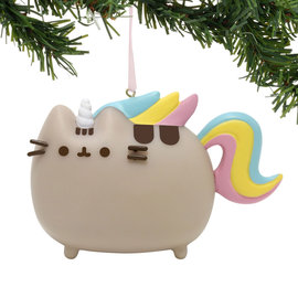 Enesco Holiday Decoration - Pusheen - Rainbow Unicorn Vinyl Tree Ornament 3''