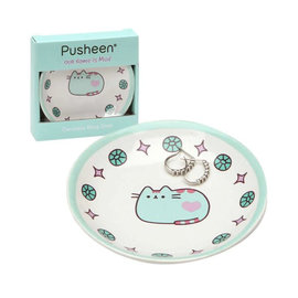 Our Name is Mud Plate - Pusheen - Teal Trinket Tray for Jewellery