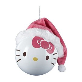 Kurt S. Adler Holiday Decoration - Hello Kitty - Pink Hat Ball Christmas Tree Ornament 3""