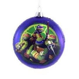 """Kurt S. Adler Article des Fêtes - Teenage Mutant Ninja Turtle - Ornements pour Sapin de Noël en Verre Soufflé 3.5"""""""