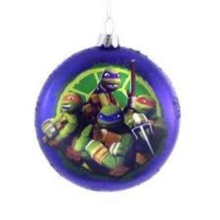 Kurt S. Adler Article des Fêtes - Teenage Mutant Ninja Turtle - Ornements pour Sapin de Noël en Verre Soufflé 3.5''