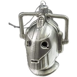 One Hundred 80 Holiday Decoration - Doctor Who - Cyberman Glass Christmas Tree Ornament