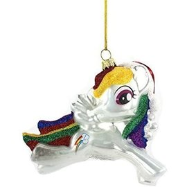 One Hundred 80 Holiday Decoration - My Little Pony - Rainbow Dash Glass Christmas Tree Ornament