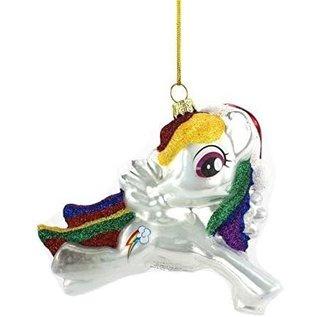 One Hundred 80 Article des Fêtes - My Little Pony - Rainbow Dash Ornement pour Sapin de Noël en Verre Soufflé