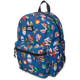 Bioworld Backpack - Nintendo - Super Mario: Characters Collage Bleu