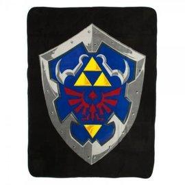 Bioworld Couverture - The Legend of Zelda - Bouclier Hylian sur Fond Noir Jeté en Peluche