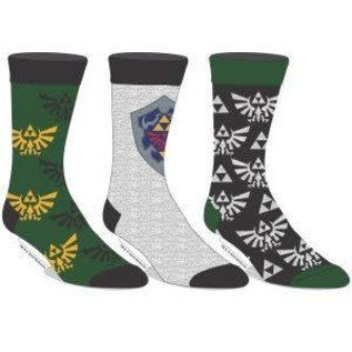 Bioworld Chaussettes - The Legend of Zelda - Emblème D'Hyrule Paquet de 3 Paires Crew