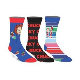 Bioworld Socks - Chucky - Wanna Play? 3 Pairs Crew Pack