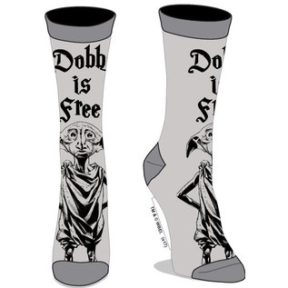 Bioworld Chaussettes - Harry Potter - Dobby is Free Grises 1 Paire Crew
