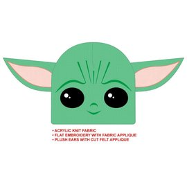 """Bioworld Toque - Star Wars The Mandalorian - """"Baby Yoda"""" The Child 3D with Ears"""