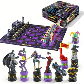 Noble Collection Board Game - DC Comics - Batman The Dark Knight VS The Joker Collector Chess Set