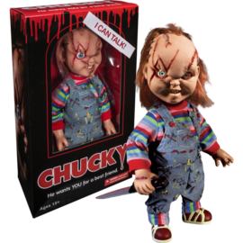 Mezco Toyz Figurine - Chucky - Poupée Childs Play qui parle Bride of Chucky 15""