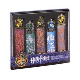 Noble Collection Bookmark - Harry Potter - Set of 5 Hogwarts House Crests