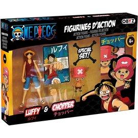 AbysSTyle Figurine - One Piece - Luffy & Chopper Ensemble de 2 avec Cartes