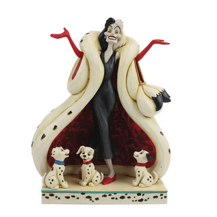 Enesco Showcase Collection - Disney Traditions - Les 101 Dalmatiens: Cruella ''Cruauté et Charme Incarnés'' par Jim Shore