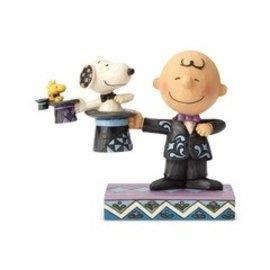 """Enesco Collectionnable - Peanuts - Charlie Brown et Snoopy """"Tour de Chapeaux"""" par Jim Shore"""