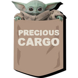 "NMR Aimant - Star Wars The Mandalorian - The Child ""Bébé Yoda"" Grogu Precious Cargo en Bois 3D"