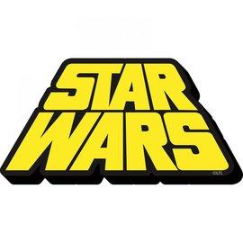 NMR Aimant - Star Wars - Logo Rétro en Bois 3D
