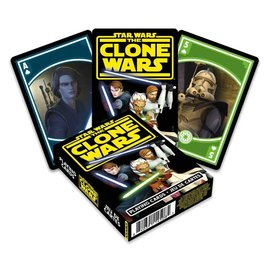 Aquarius Jeu de cartes - Star Wars The Clone Wars - Anakin, Ahsoka et Obi Wan