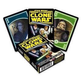 Aquarius Playing Cards - Star Wars The Clone Wars - Anakin, Ahsoka and Obi Wan