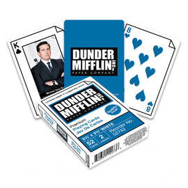 Aquarius Playing Cards - The Office - Dunder Mifflin Inc, Paper Company