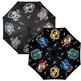 Bioworld Umbrella - Harry Potter - Hogwarts Four Houses Crests Liquid Reactive