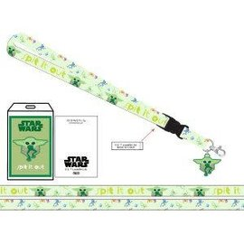 Bioworld Lanyard - Star Wars The Mandalorian - The Child ''Baby Yoda'' Spit it Out with Collectible Sticker