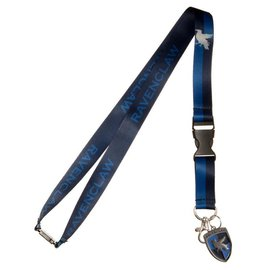 Bioworld Lanyard - Harry Potter - Ravenclaw Blue and Black Eagle Metal Crest with Collectible Sticker