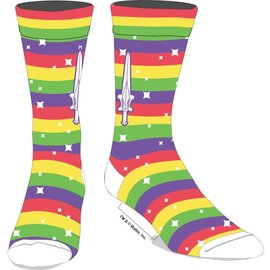 Bioworld Socks - Masters of the Universe - Rainbow Stripes with Sword 1 Pair Crew