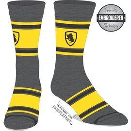Bioworld Socks - Harry Potter - Hufflepuff: Yellow Embroidered Badger Logo 1 Pair Crew